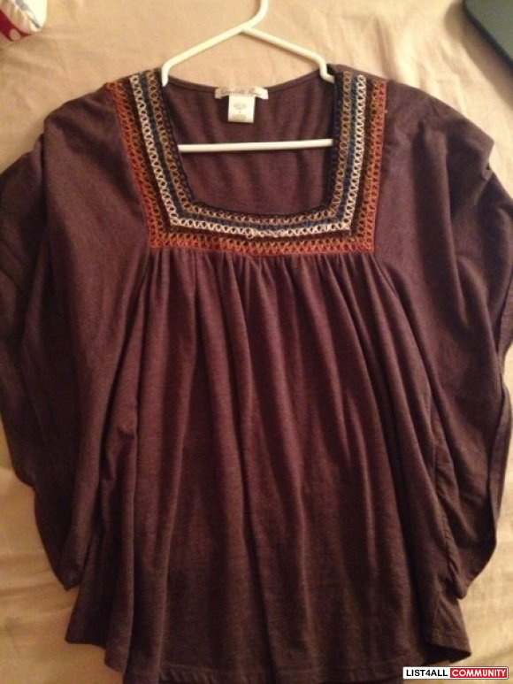 Charlette russe brown flowy top