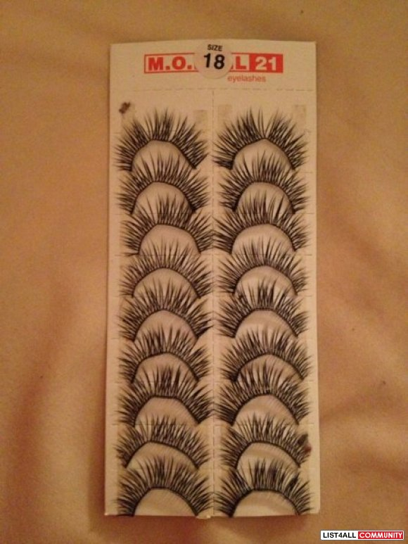 False lashes! $2/pair