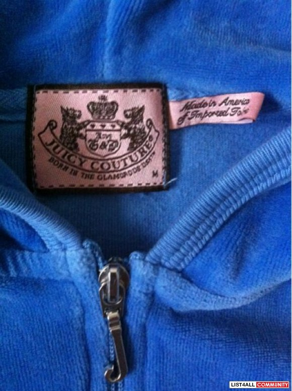 Juicy Couture blue hoodie and cargo pants