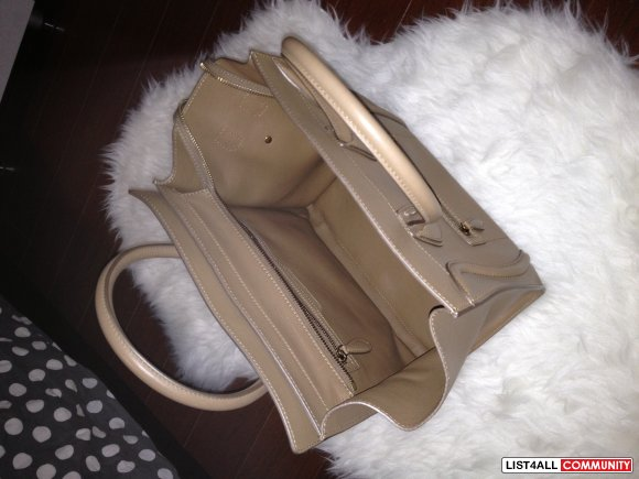 "Celine ""Luggage MINI Tote"" in Tan"