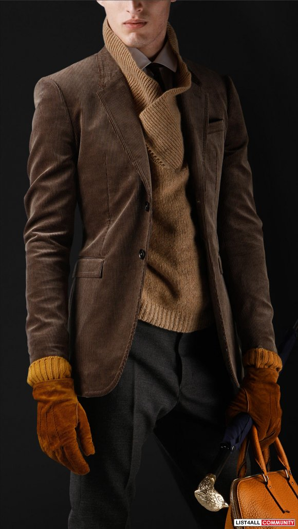 Burberry 2012 Fall Collection Skinny Fit Corduroy Jacket - Size 46
