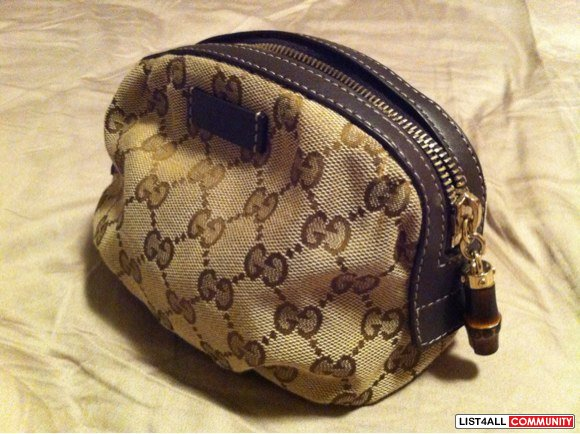 Authentic Gucci make up pouch/clutch