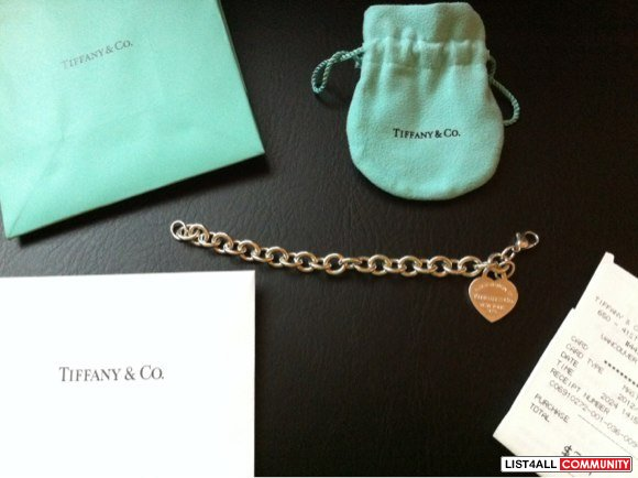 Authentic Tiffany & Co return to Tiffany bracelet