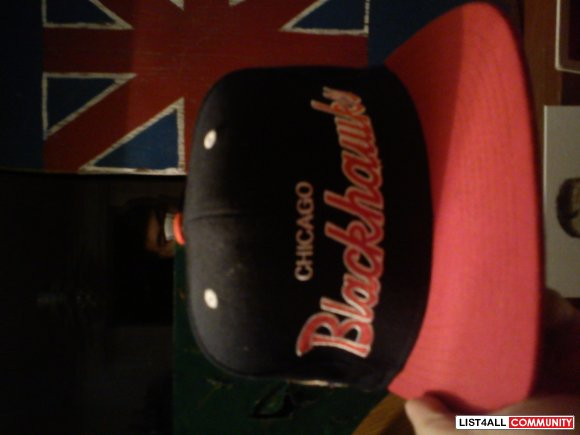 mitchell and ness chicago blackhawks snapback