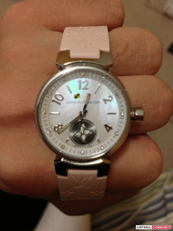 Louis Vuitton Tambour Lovely Cup White, 28 MM Q12M00