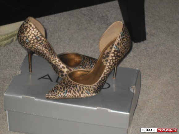 leopard and blue aldo stilettos