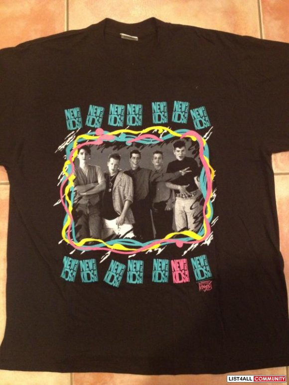 New Kids on the Block Concert T-Shirt from 1989