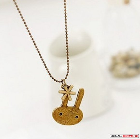 star/bunny pendent necklace