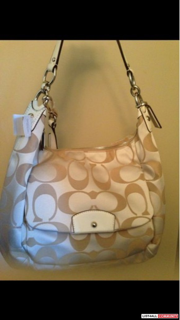 NWT Coach Kristin Op Signature Large Hobo Purse MSRP$398