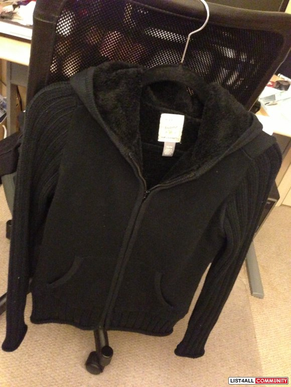 [SOLD] Roots 73 Black Nice Fur Womans Coat Jacket