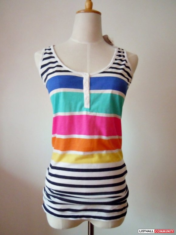 New Colorful long tank Size S