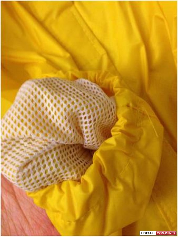 "Pet hooded safety raincoat yellow jacket 18.5"" dog"
