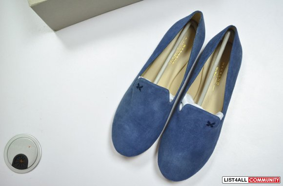 New Maxmara weekend suede oxford shoes Size 8  blue navy flats