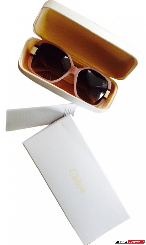 Chloe Square Rose Cream Sunglasses