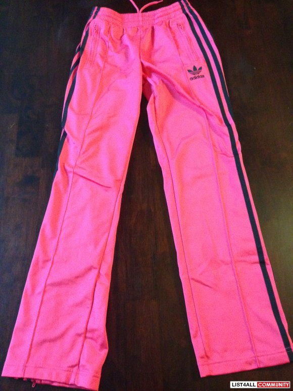 Adidas Hot Pink Track Pants Size Xs Extra Small