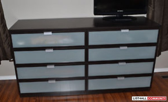 ikea hopen 8 drawer dresser coalharboursale list4all. Black Bedroom Furniture Sets. Home Design Ideas