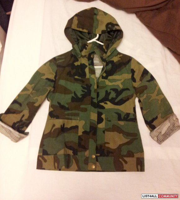 Camo pattern military/trooper jacket size XS