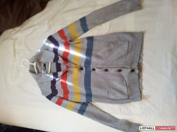 BDG (Urban Outfitters) - Grey Striped Cardigan size M