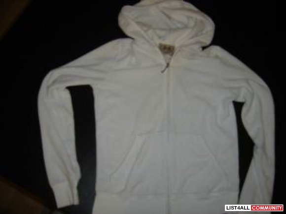 White Juicy Couture Zip Up