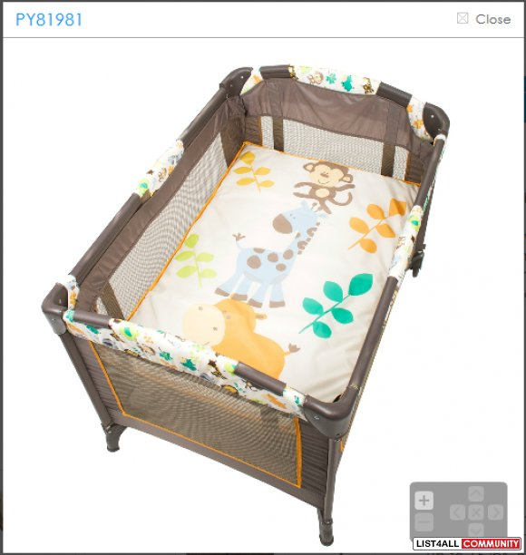Brand New Baby Trend Nursery Center Playpen Safari Escape
