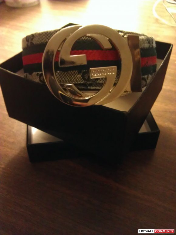 Brand New Gucci Belt (Graphite)