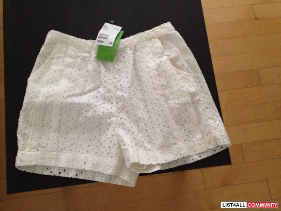 H&M White Shorts - With Tags Attached - Size 2