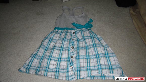 cute plaid skirt dress with grey top size small