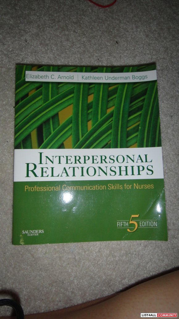 Interpersonal relationship nursing book 5th ed