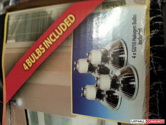 bnib euro design halogen track light - $40