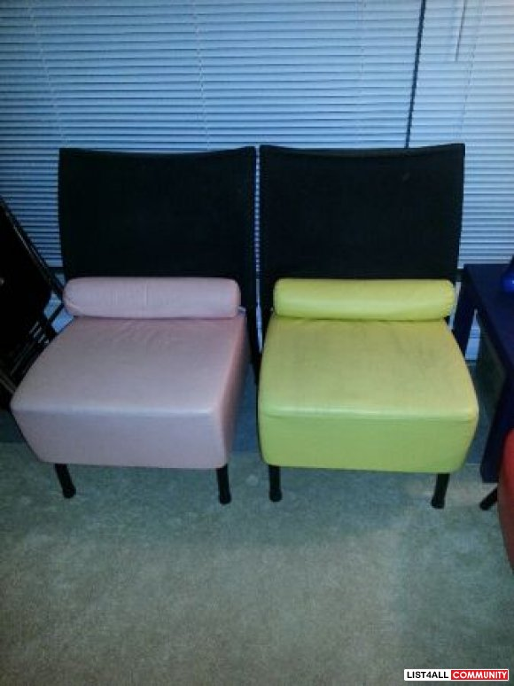 colorful mix and match sofa set - $170