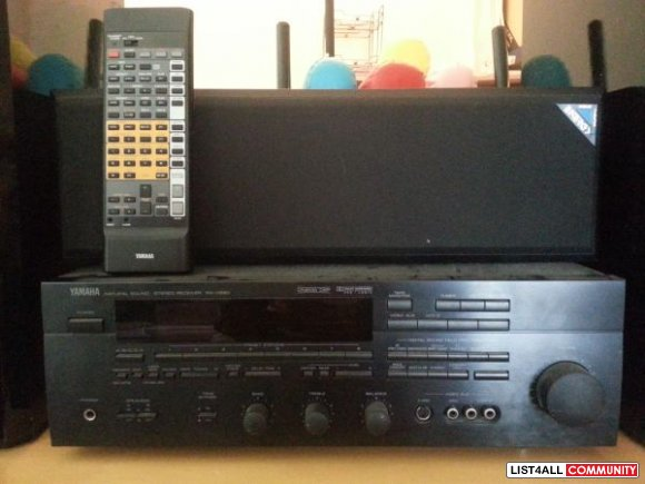 surround sound home theatre system amp & speakers - $250