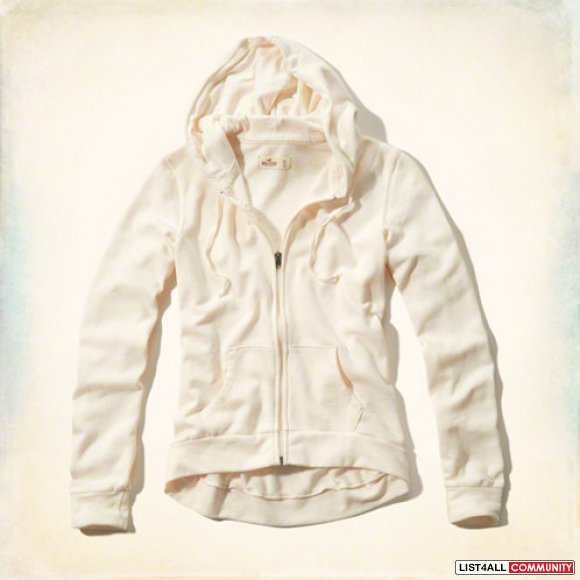 NWT Hollister Women's South Side Hoodie in Cream size Small