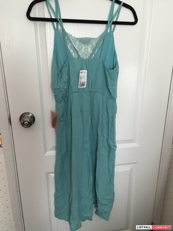 NWT Forever 21 Seafoam Knee Length Dress size XS