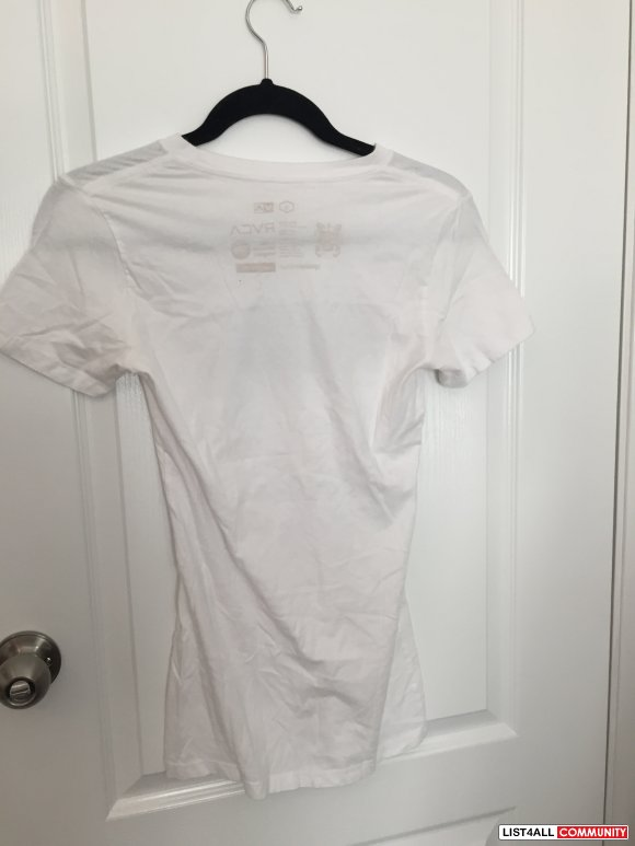 RVCA White T-Shirt Special Edition Jeff McMillan Size Small