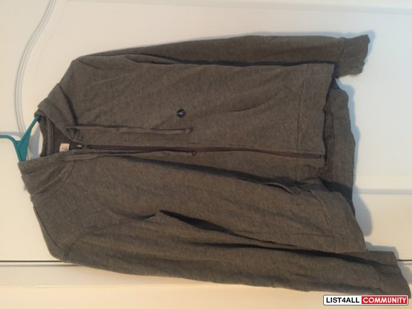 NWT Hollister Southside Hoodie Dark Heather Grey Small