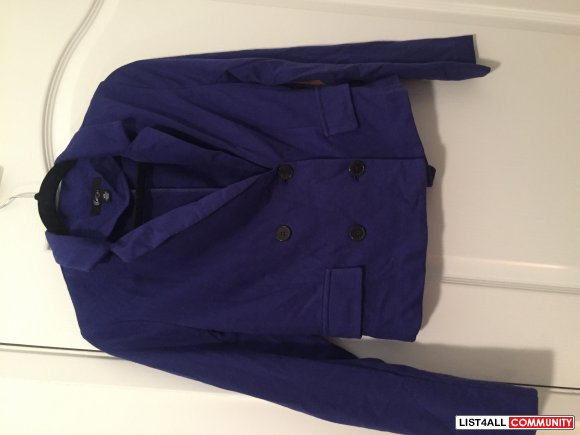 Forever 21 Blue Blazer with Elbow Patches - Medium