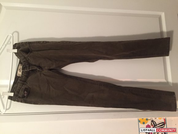 Hollister Low Rise Jeggings in Olive Size 0 (Waist 24)