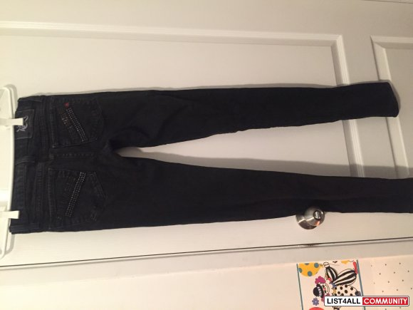 "Rock and Republic ""Crazy B"" Black Skinny Jeans Size 24"