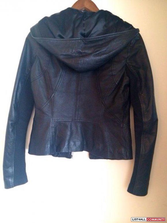 Danier leather jacket with hood