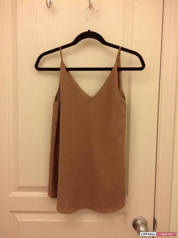 Ever New Camel Tank Top (Brand New | Never Worn)