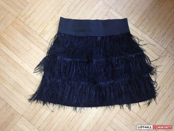Vera moda feather mini skirt