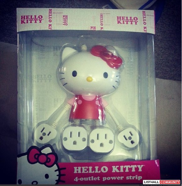 HK HELLO KITTY 4 OUTLET POWER STRIP