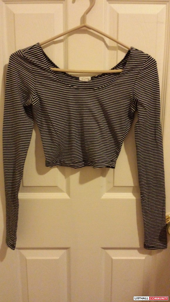 Striped Longsleeve Crop top