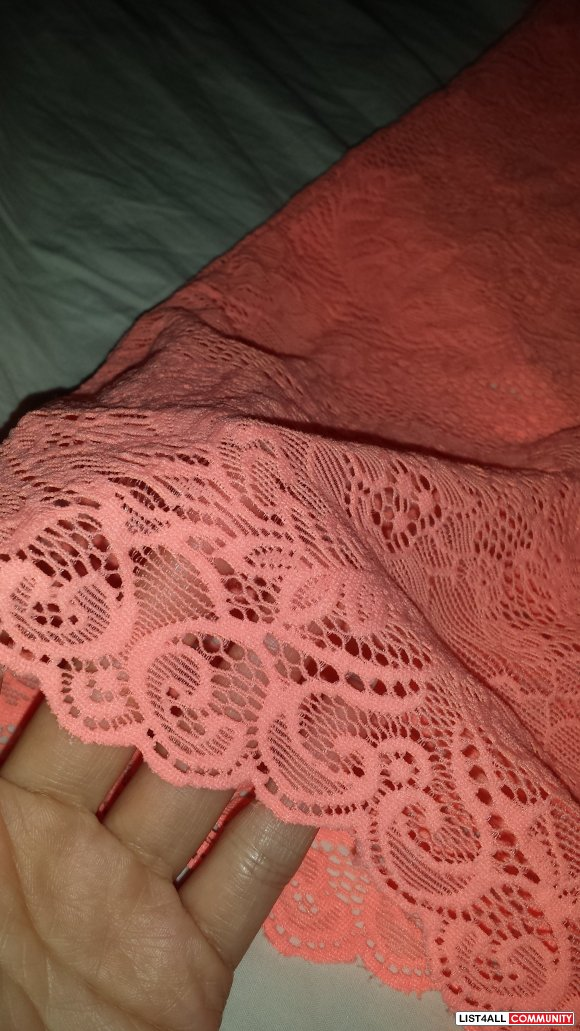 Pink Coral Wilfred Lace Bustier
