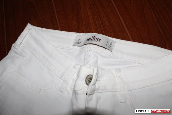 White Hollister Jeans sz 25