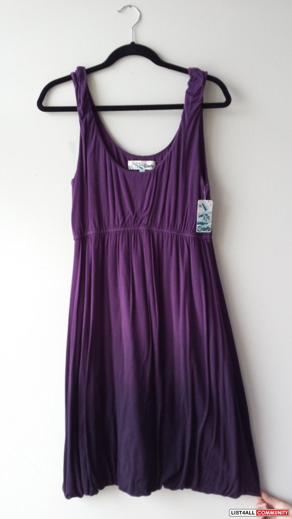 BNWT ORB PURPLE SUMMER DRESS