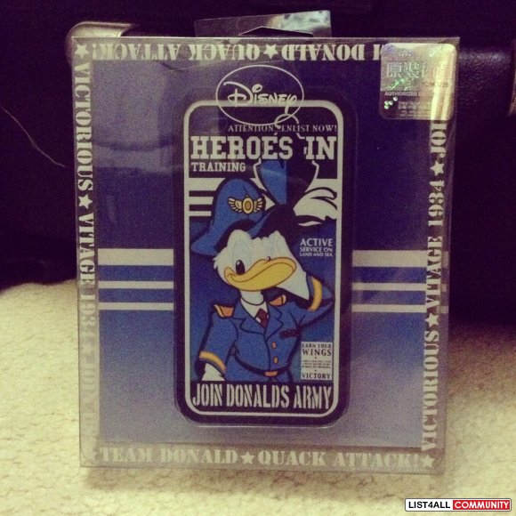 Disney Donald duck navy iphone 4 case