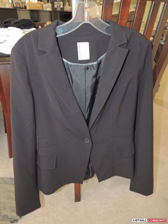 Smart Set Black Blazer Size 6