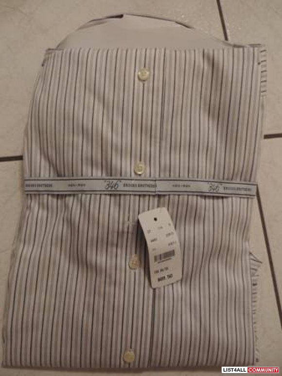 BRAND NEW WITH TAG- Brooks Brothers 346 Stripe Dress shirt