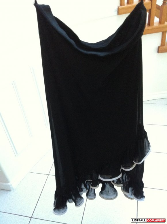 Black Skirt with White Trimming Size S/M